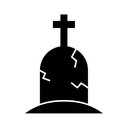 Gravestone flat vector icon which can easily modify or edit