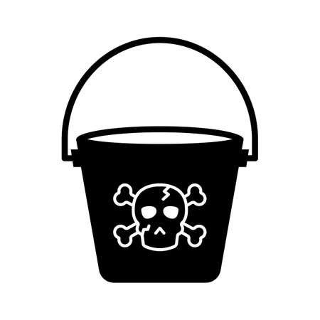 Horror bucket flat vector icon which can easily modify or edit 일러스트