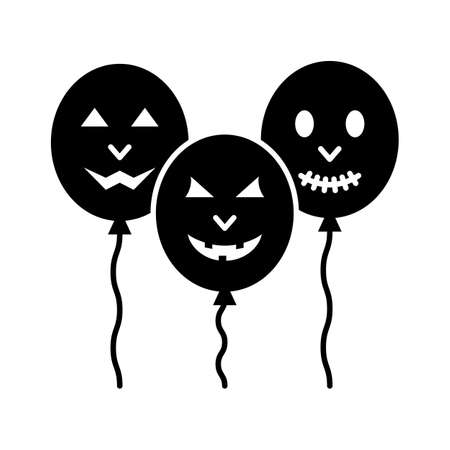 Spooky balloons flat vector icon which can easily modify or edit