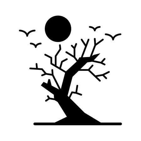 dead tree flat vector icon which can easily modify or edit