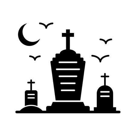 grave headstone flat vector icon which can easily modify or edit
