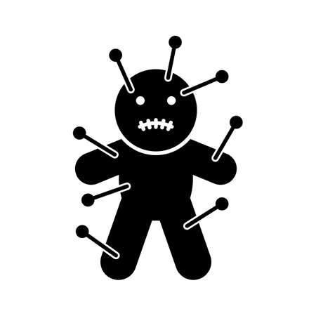 Voodoo doll flat vector icon which can easily modify or edit Иллюстрация