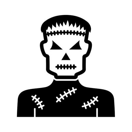 Spooky character flat vector icon which can easily modify or edit