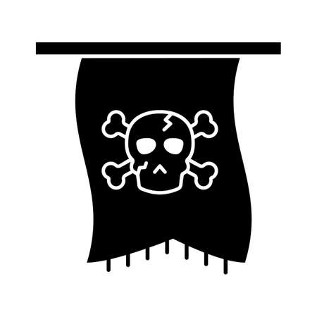 Halloween flag flat vector icon which can easily modify or edit Иллюстрация