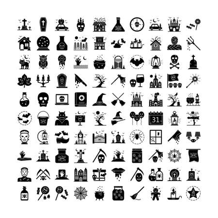 Halloween Isolated  every single icon can be easily modify or edit 일러스트