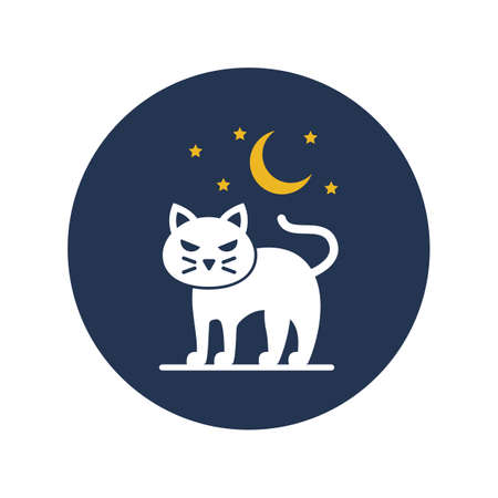 Bad luck concept flat vector icon which can easily modify or edit