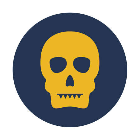 Skeleton system flat vector icon which can easily modify or edit