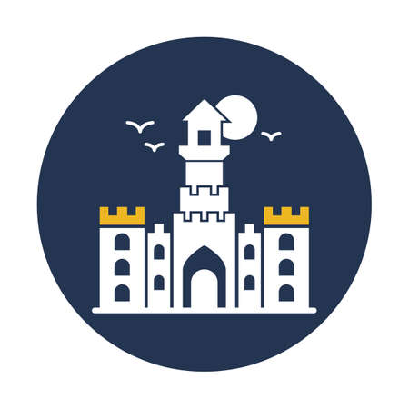 Horror House flat vector icon which can easily modify or edit