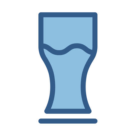 Ale glass fill vector icon which can easily modify or edit