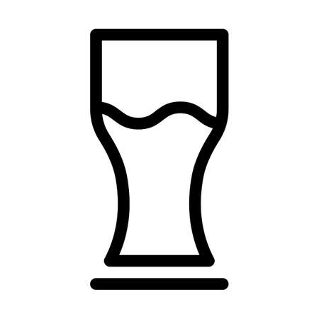Ale glass line vector icon which can easily modify or edit
