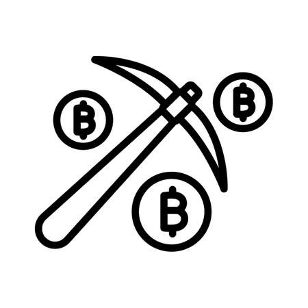 Bitcoin mining, bitcoin payments process, bitcoin transaction process, cryptocurrency mining fully editable vector icons