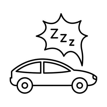 Car tired due to fuel line vector icon which can easily modify or edit