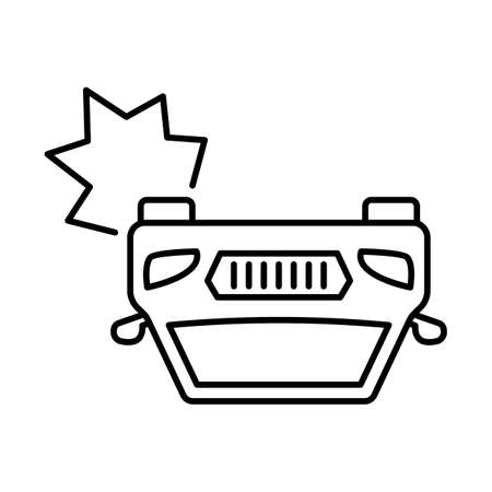 collide vehicles line vector icon which can easily modify or edit