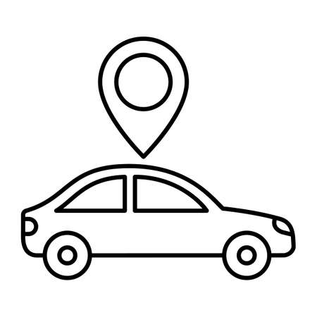 Travelling pin line vector icon which can easily modify or edit
