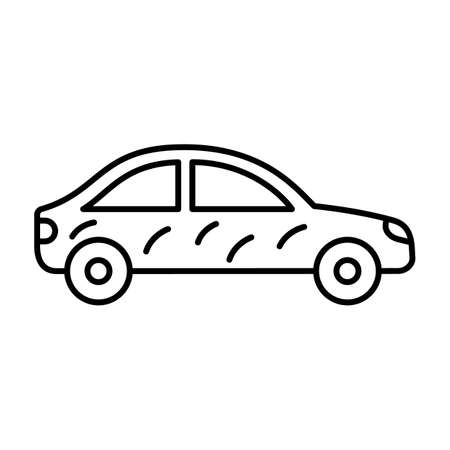Car cleaning line vector icon which can easily modify or edit