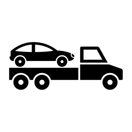 Car bring on truck  Glyph Style vector icon which can easily modify or edit