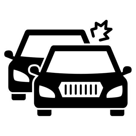Two car collision  Glyph Style vector icon which can easily modify or edit Ilustração