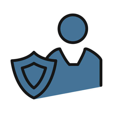 protection shield, antivirus line isolated vector icon can be easily modified and edit