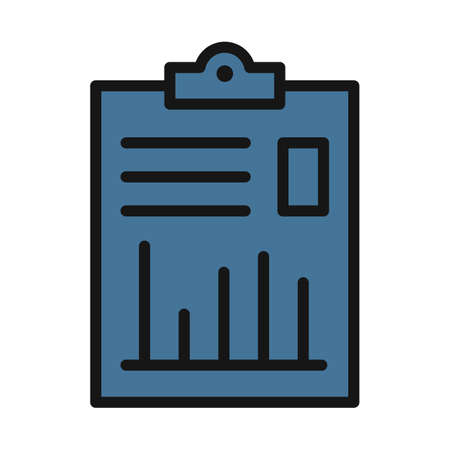 Business Report line isolated vector icon can be easily modified and edit Vettoriali