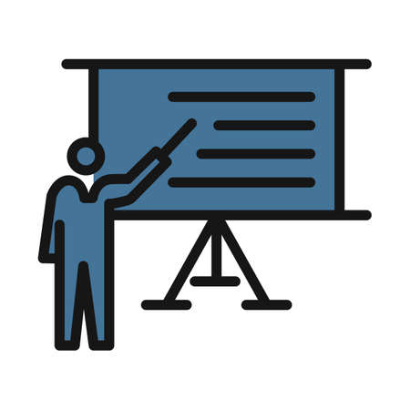 Presentation line isolated vector icon can be easily modified and edit Ilustración de vector