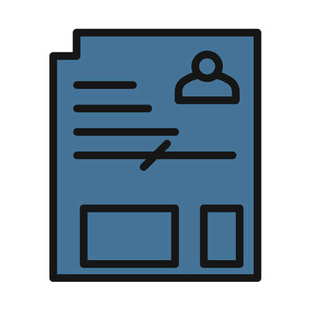 Document line isolated vector icon can be easily modified and edit