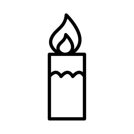Burning candle Isolated Vector icon that can be easily modified or edited