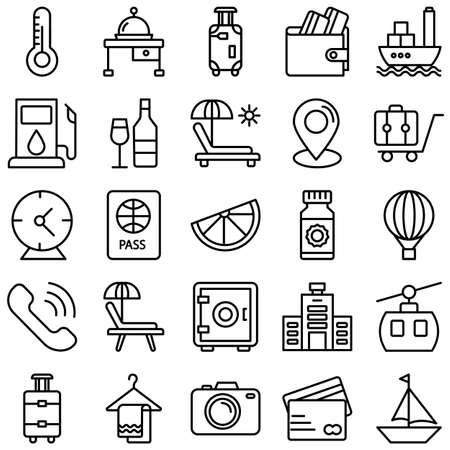 Travel and Hotel Isolated Vector icon which can easily modify or edit Vecteurs