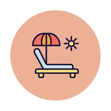 Beach Isolated Vector icon which can easily modify or edit