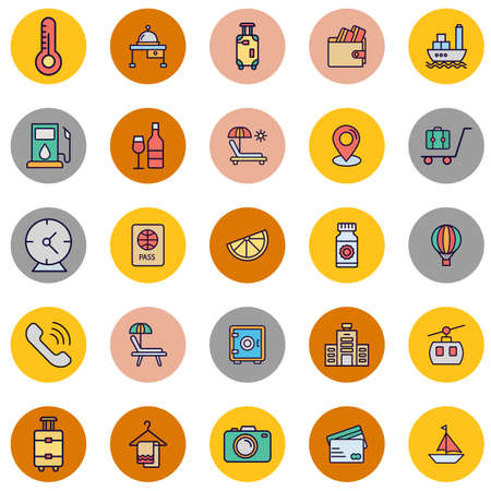 Travel and Hotel Isolated Vector icon which can easily modify or edit
