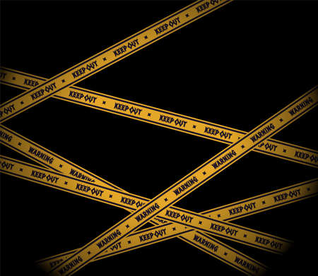 Barricade tape wallpaper illustration, black, blockade, isolation