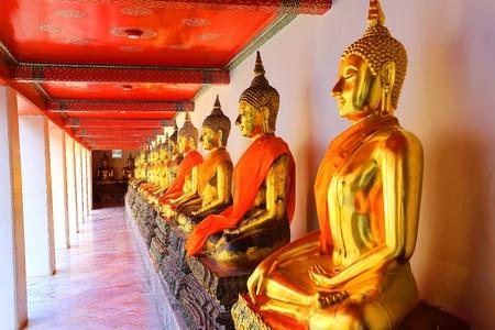 black giant mountain: Buddha in Wat Pho Thailand