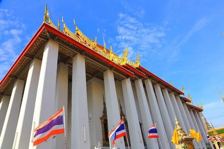 black giant mountain: Wat Pho in Thailand Stock Photo