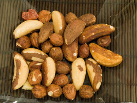cobnut: A dish bowl with various nuts