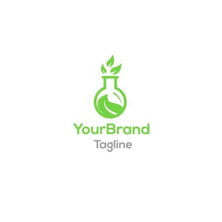Leaf lab logo template