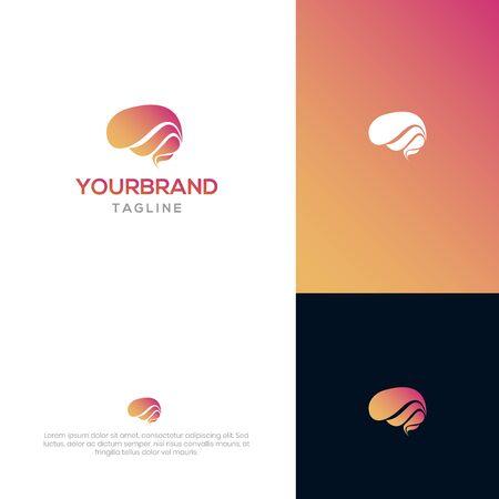 Brain logo template Illusztráció