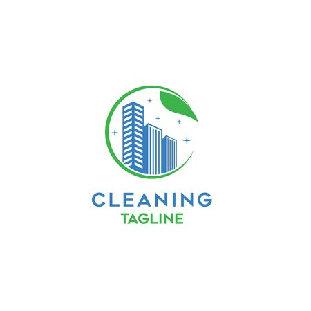 Modern Cleaning company logo template