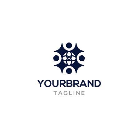 world people logo template vector