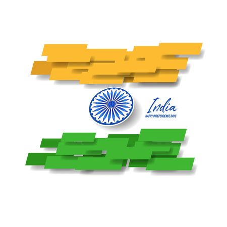 Happy Independence day India, Vector illustration, Flyer design for 15th August Illustration