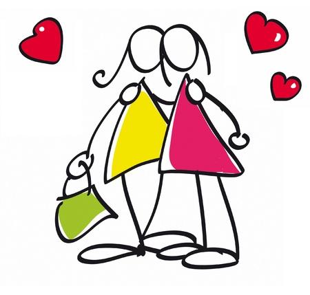 lesbianas: Pareja de lesbianas