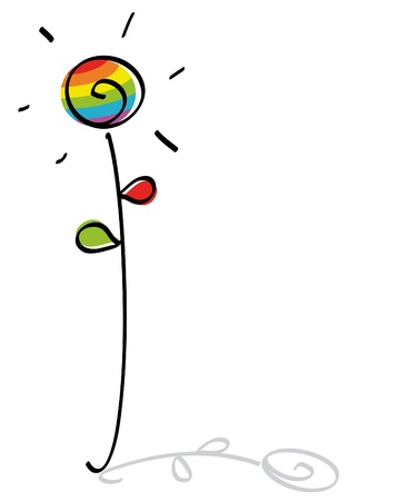 bandera gay:  flor gay divertido