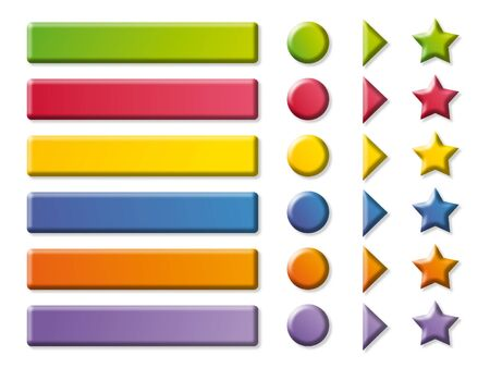 Funny color Buttons, frames and arrows