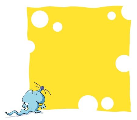 raton caricatura: Marco de rat�n divertido