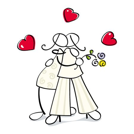 aniversario de bodas: dos lesbianas se casan, para la boda de la tarjeta