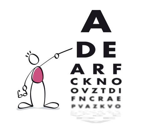 Funny vision test