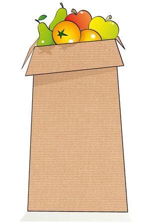 paper bag fruits photo