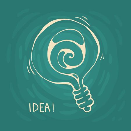 The abstract hand-drawn IDEA symbol.