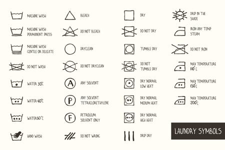 Laundry Symbols. Illustration