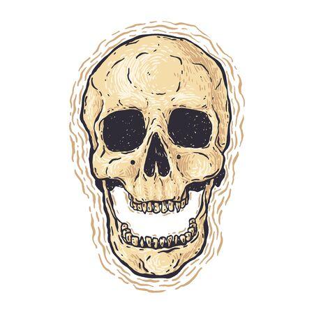 Color Grunge Skull