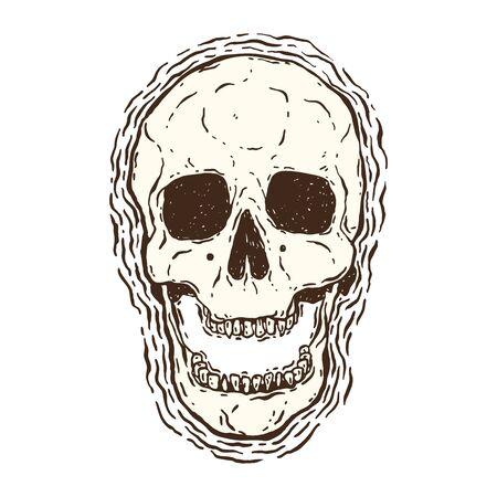 Graphic grunge skull