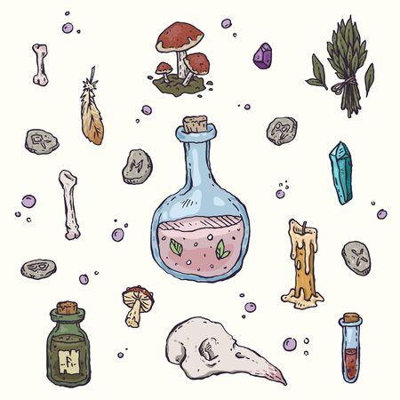 Magic elements set Ilustracja